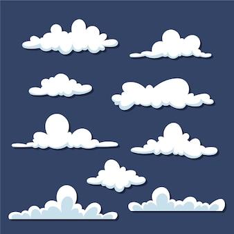 Cartoon wolken set