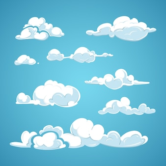 Cartoon wolken vector set