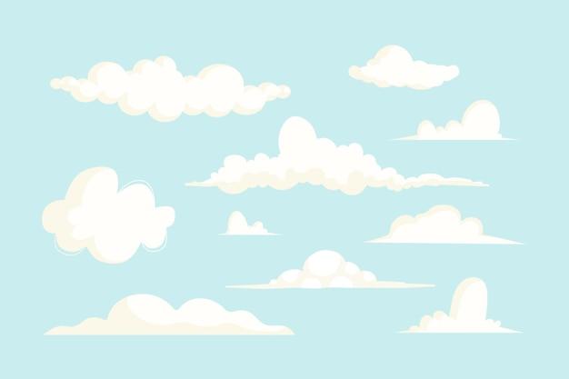 Cartoon wolkencollectie