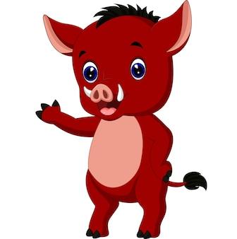 Cartoon wrattenzwijn