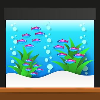 Cartoon zoetwatervissen