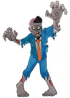 Cartoon zombie van halloween