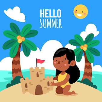 Cartoon zomer illustratie