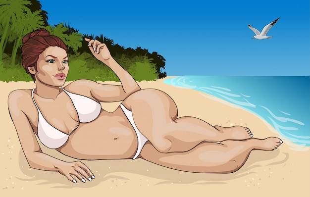 Cartoon zomervakantie concept