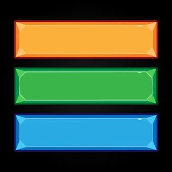 Cartoonknoppen voor gebruikersinterface van games