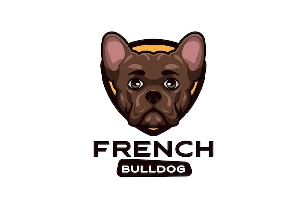 Cartoonlogo voor hond met creatief en stijlvol concept