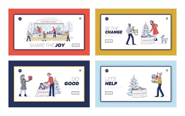 Cartoons die voor kerstmis schenken
