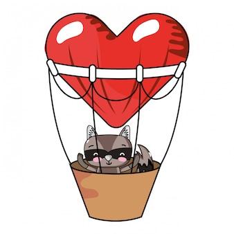 Cartoons van liefde en dieren