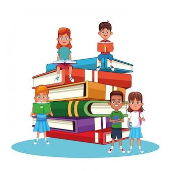 Cartoons voor kinderen en boeken