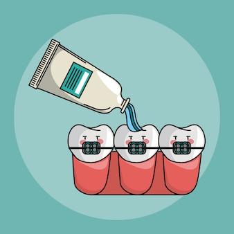 Cartoons voor tandverzorging