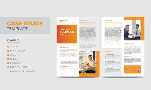Casestudysjabloon zakelijk modern zakelijk dubbelzijdig flyer- en postersjabloon kleurrijk boekjeontwerp