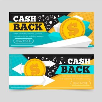 Cashback banner sjabloon set