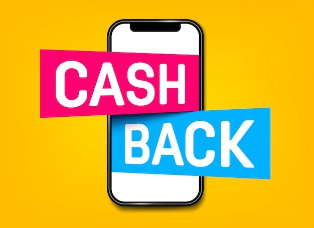 Cashback, cashback-retour, tag voor geldteruggave.