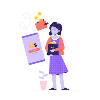 Cashback concept illustratie