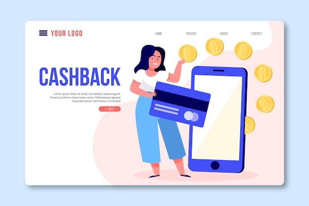 Cashback concept startpagina