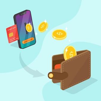 Cashback conceptstijl Gratis Vector