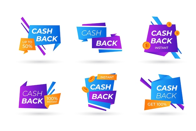 Cashback labels-collectie