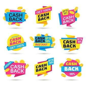 Cashback labels illustratie