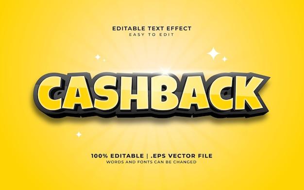 Cashback met bewerkbaar teksteffect in komische stijl