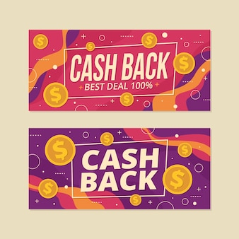 Cashback set van websjabloon voor spandoek