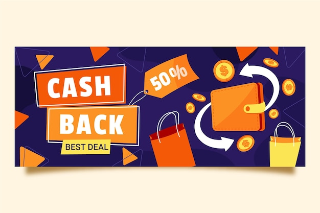Cashback-sjabloon voor spandoek
