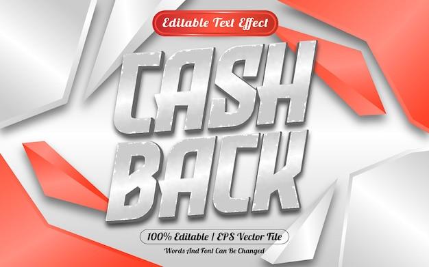Cashback verkoop bewerkbaar teksteffect met abstracte achtergrond