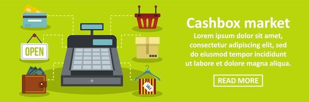 Cashbox markt banner horizontaal concept