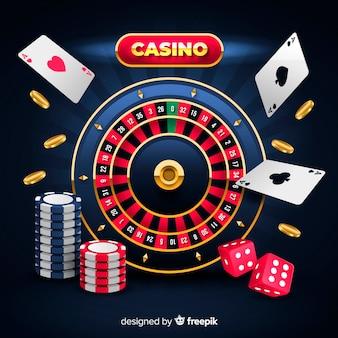 Casino achtergrond in realistische stijl