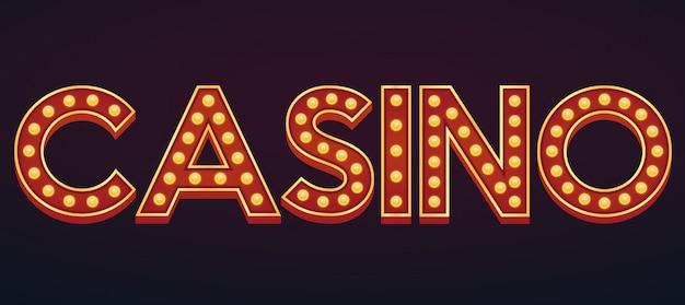 Casino alfabettekst selectiekader gloeilamp vintage