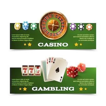 Casino banners set