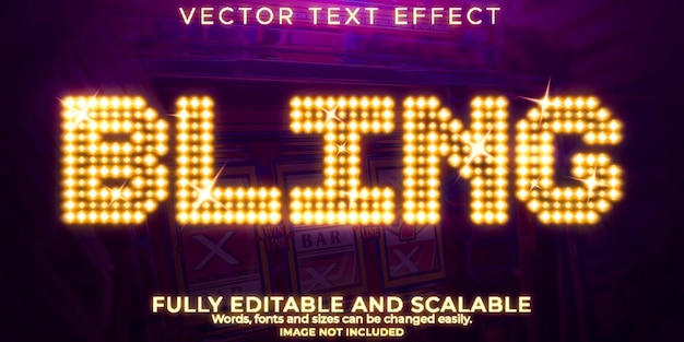 Casino bling teksteffect bewerkbare koninklijke en vegas tekststijl