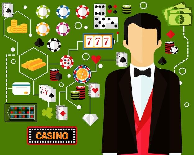 Casino concept achtergrond