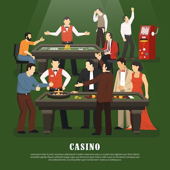Casino concept illustratie