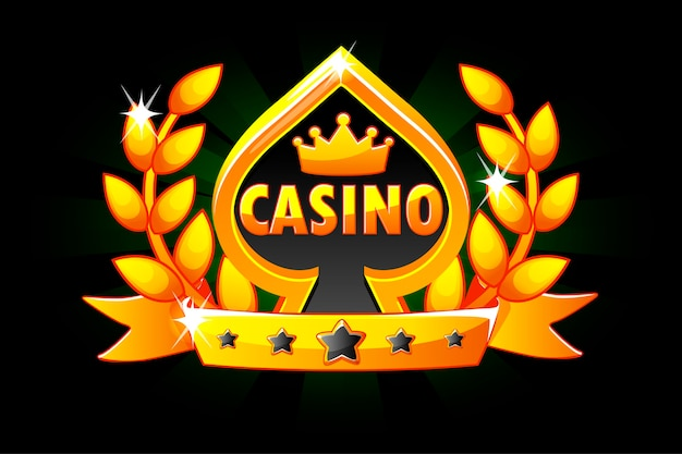 Casino en speelkaart symbool.