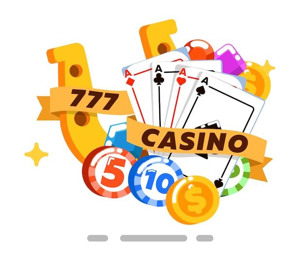 Casino geïsoleerd concept in vlakke stijl