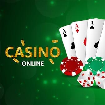 Casino gokspel met casinofiches en speelkaarten