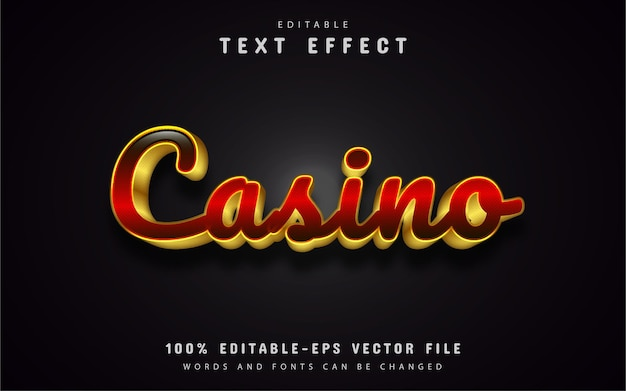 Casino gouden teksteffect
