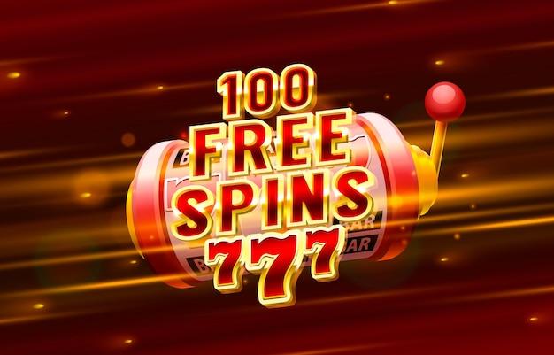 Casino gratis spin label frame gouden banner grens winnaar vegas game