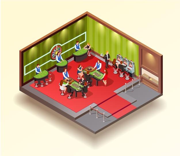 Casino isometrisch ontwerpconcept