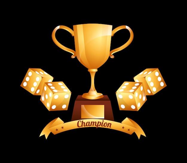 Casino kampioen illustratie