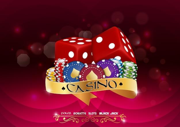 Casino kleurrijke chips