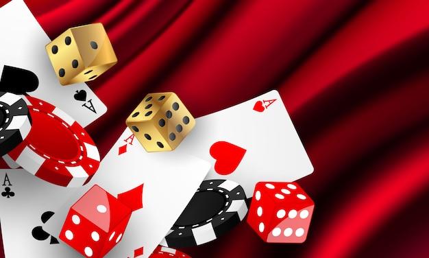Casino luxe vip-uitnodiging met viering partij gokken banner achtergrond.