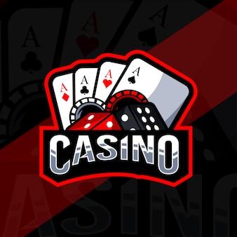 Casino mascotte logo esport sjabloon