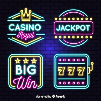 Casino neon teken collectio