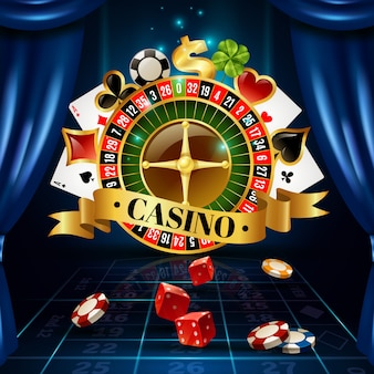 Casino night games symbols samenstelling poster