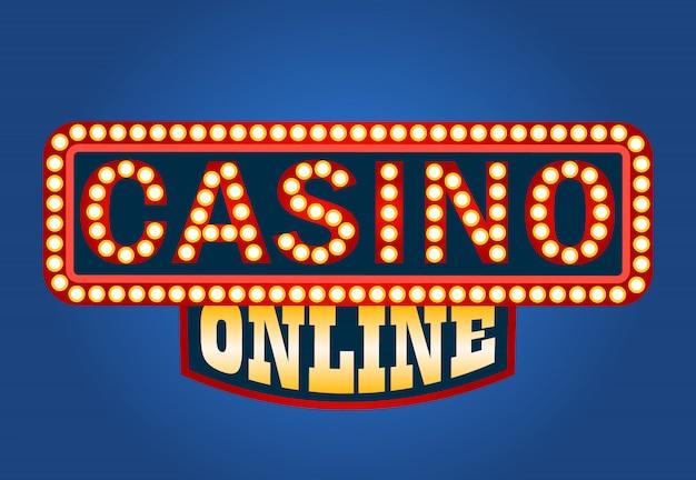 Casino online gloeiend teken