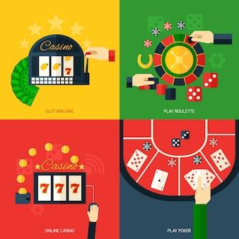 Casino pictogram plat