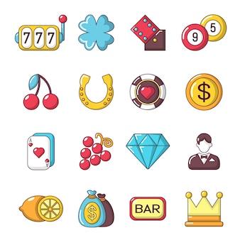 Casino-pictogrammen instellen