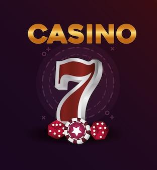Casino poker jackpot spel dobbelstenen chip