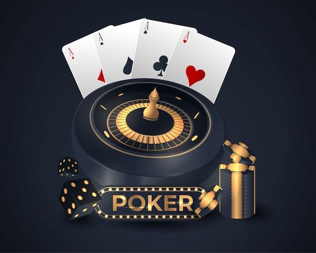Casino poker kaart ontwerp